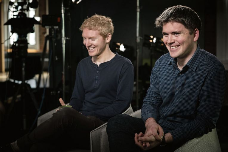 The Collison brothers are planning to bring some of their fortune back home with a pledge of more jobs. Picture: Bloomberg/Getty