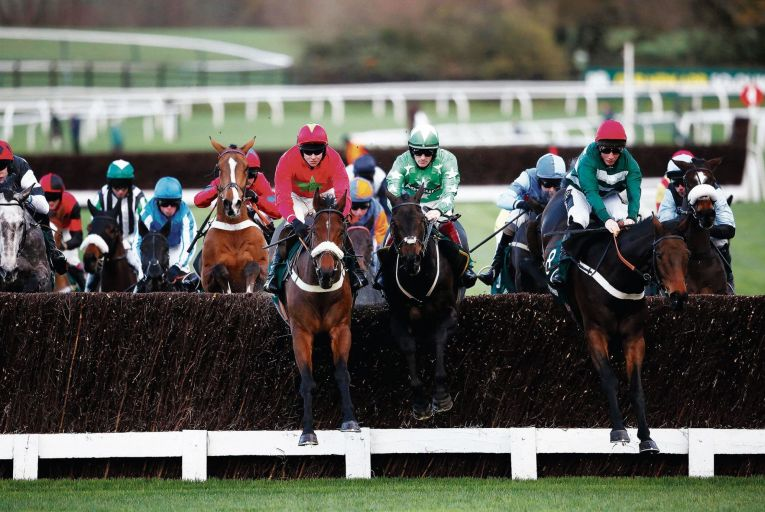 The 2015 Paddy Power Handicap Steeple Chase at Cheltenham racecourse: gambler Antonio Parente was treated to free tickets to the races. Picture: Getty