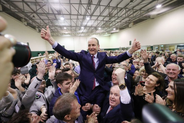 Twenty-six per cent of voters support a grand coalition between Micheál Martin's Fianna Fáil, Fine Gael and smaller parties. Picture: Yui Mok/PA