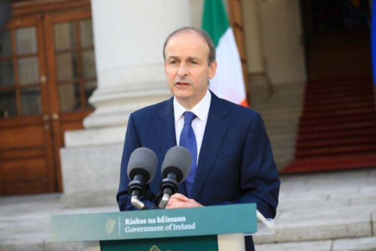 Taoiseach Micheál Martin addressing the nation on the latest changes to Covid-19 restrictions. Photo: Julian Behal/RollingNews.ie