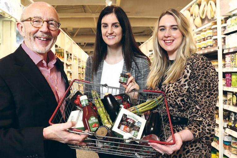 Kieran Rumley, executive director, Love Irish Food; Maxine Hyde, marketing manager; and Emma Brennan, marketing executive, Ballymaloe Foods Pic: Jason Clarke