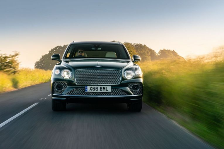 The inclusion of an electric motor allows this super luxury Bentley SUV to travel up to 40 kilometres in electric mode.