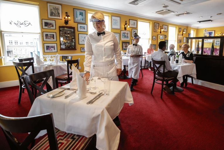 Restaurant bookings soared as restrictions were lifted in June