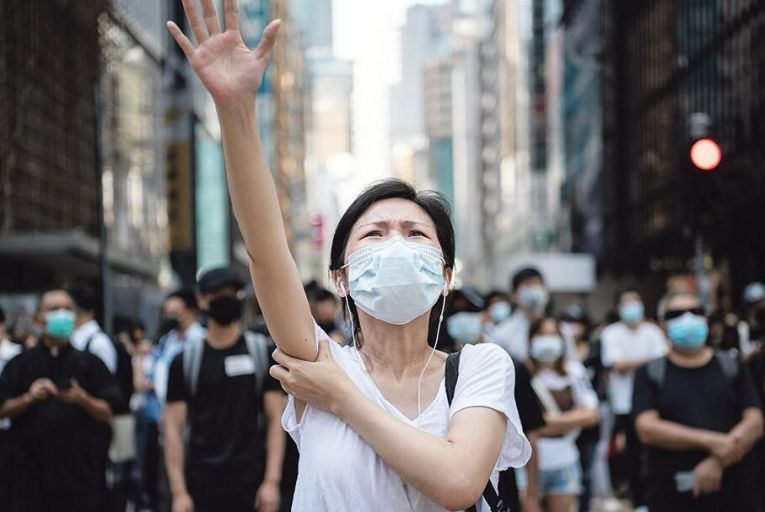 Pro-democracy protests began in Hong Kong last year and continued for several months before the coronavirus put a stop to them for now