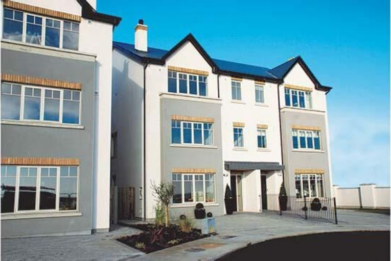The exterior of the houses being sold at Warren Lodge