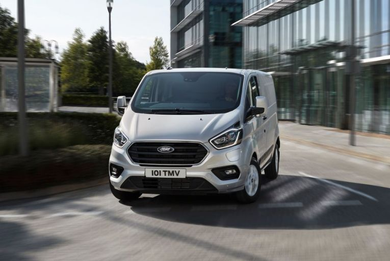 Ford Transit Custom PHEV is  said to go up to 500km with a full tank of fuel and the  1.0-litre engine running to keep the battery pack going. Picture: Charlie Magee