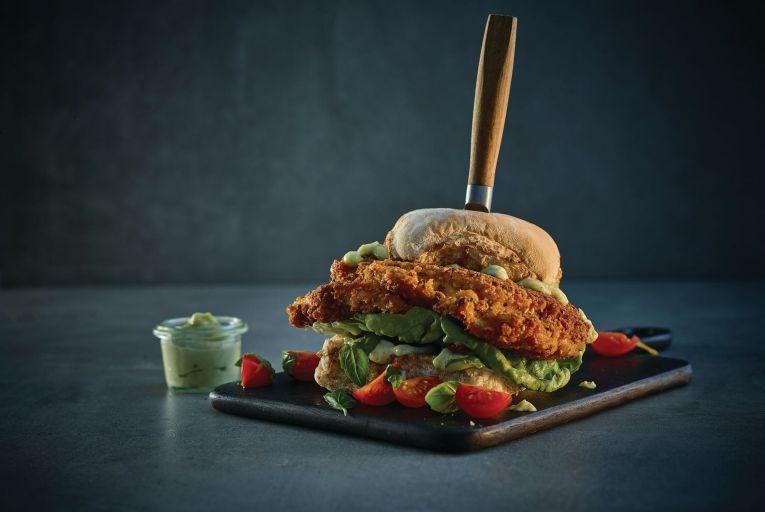 Neven Maguire's buttermilk chicken burger