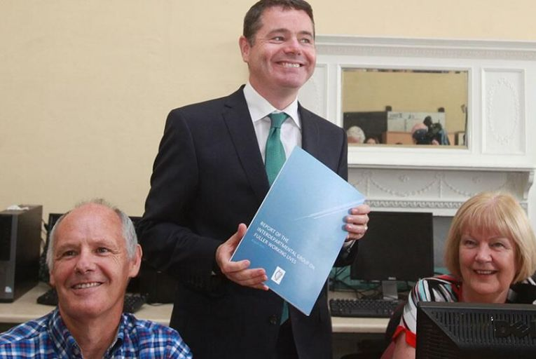 Minister for Public Expenditure Paschal Donohoe at launch of working lives report  Pic: RollingNews.ie