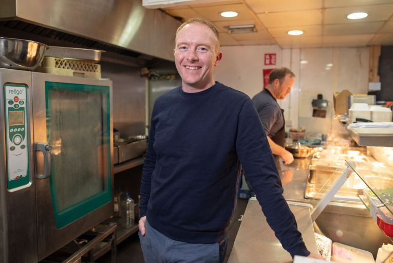 Sean Murray of Hosted Kitchens: 'The way we present it is that they're virtual restaurants.' Picture: Fergal Phillips