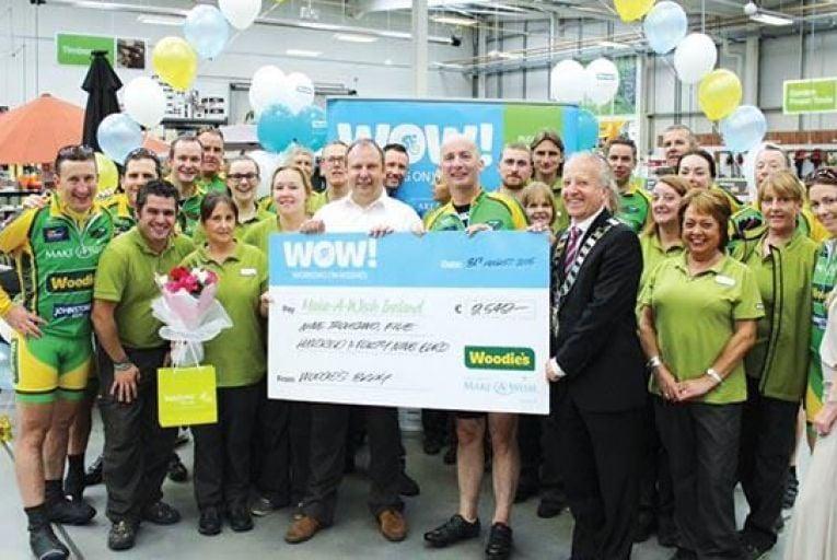 Woodie\'s DIY staff raised €250,000 for Make-A-Wish Ireland