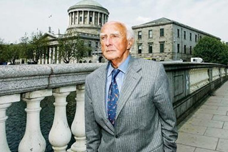 George Redmond crosses the River Liffey after leaving the Four Courts in Dublin in May 2008 Picture: Courtpix
