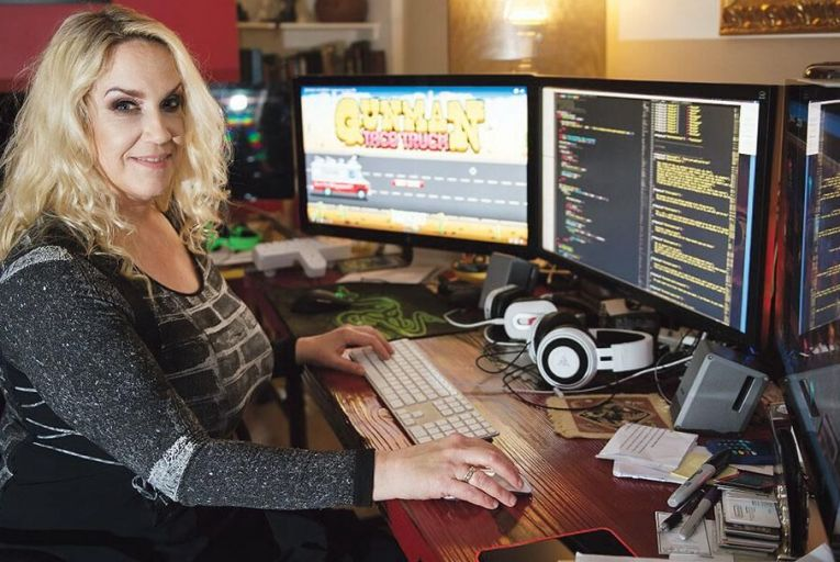 Brenda Romero, founder of Romero Games Pic: Andrew Downes