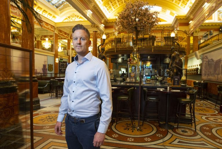 David Chawke, owner of the Bank Pub on College Green: angry at how the industry has been treated. Picture: Fergal Phillips
