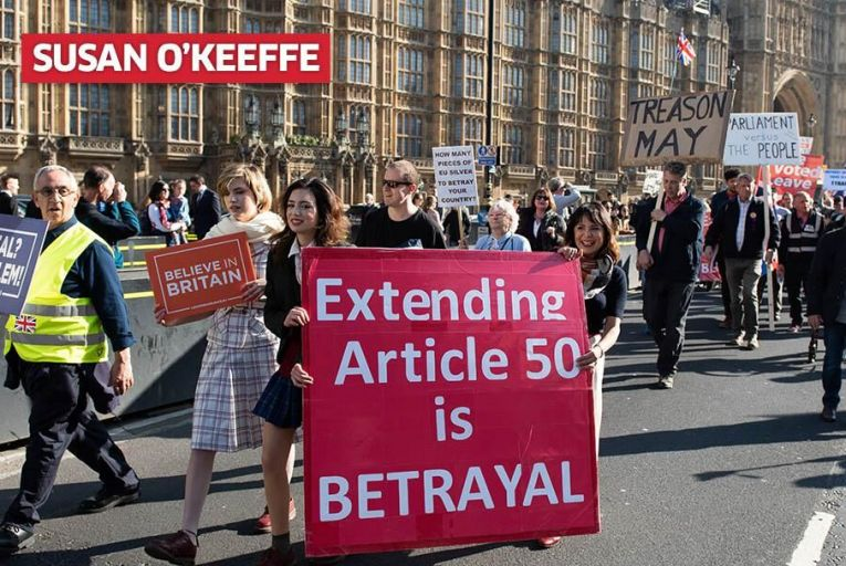 Pro-Brexit supporters demonstrate in London. Pic: Getty