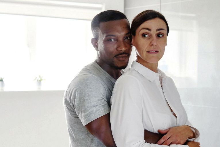 Ashley Walters and Suranne Jones in I Am Victoria. Jones plays a woman on the verge of a nervous breakdown.