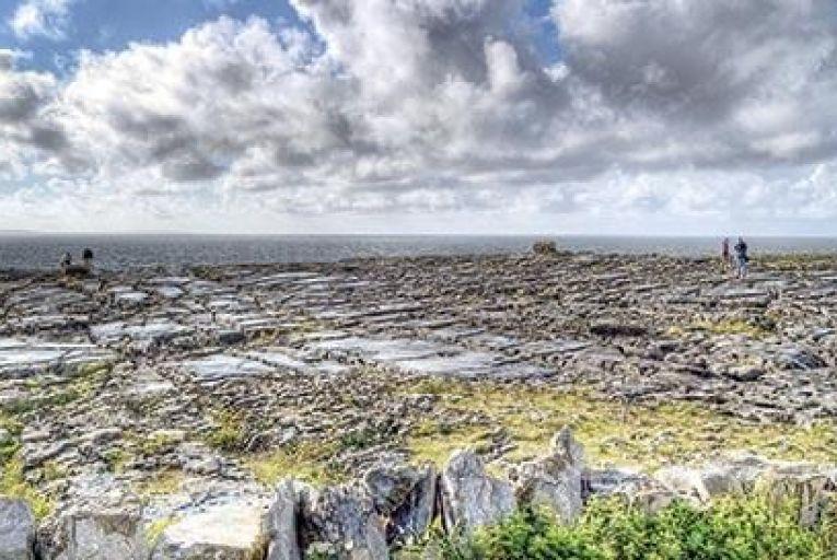 Burren karst meets the Atlantic on the north Clare coastline