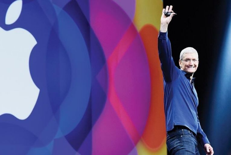 Tim Cook, chief executive  of Apple: share windfall  of $373 million Picture: Bloomberg