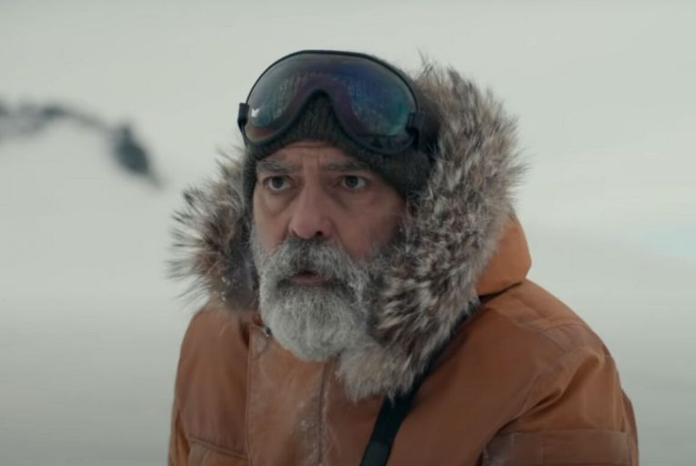 George Clooney plays an isolated scientist in the Arctic Circle in The Midnight Sky