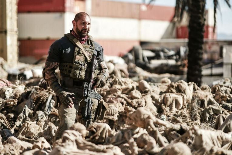 Dave Bautista in the underwhelming Army of the Dead. Picture: Clay Enos