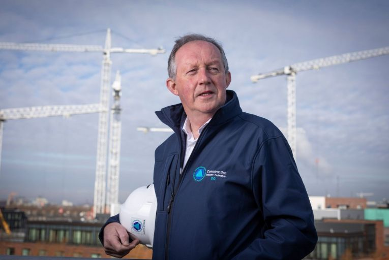 Tom Parlon, director general of the Construction Industry Federation: 'We need to be working.' Picture: Fergal Phillips