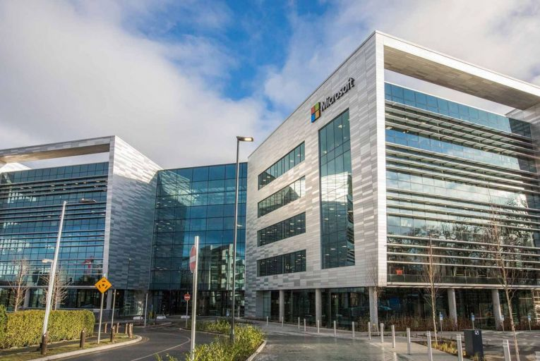 Microsoft Ireland, Leopardstown, Dublin: The spike in payouts came after former US president Donald Trump pledged that companies would repatriate at least $4 trillion to the US as a result of the new tax laws being introduced