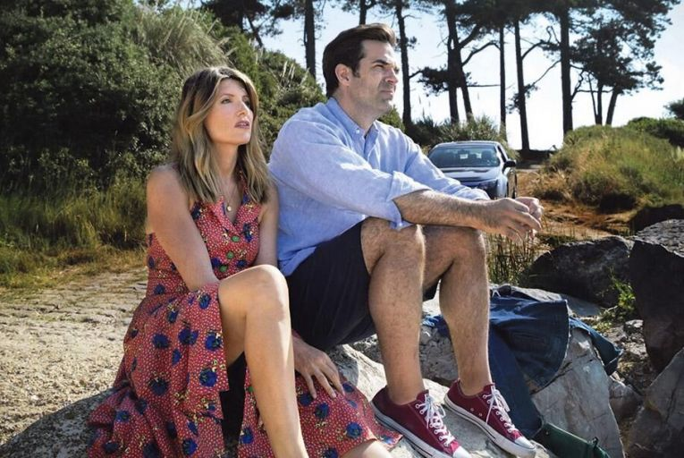A rocky relationship: Sharon Horgan with Rob Delaney in Catastrophe