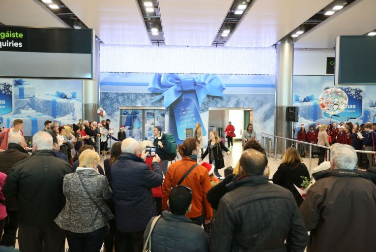 A Christmas homecoming at Dublin Airport in 2016: the scene is likely to be different this year Picture: RollingNews.ie