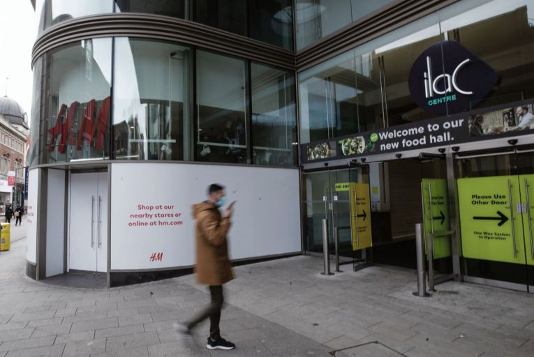 Hammerson, the shopping centre group, said the only interested party to replace H&M at Dublin's Ilac Centre was a leisure operator. Picture: Fergal Phillips