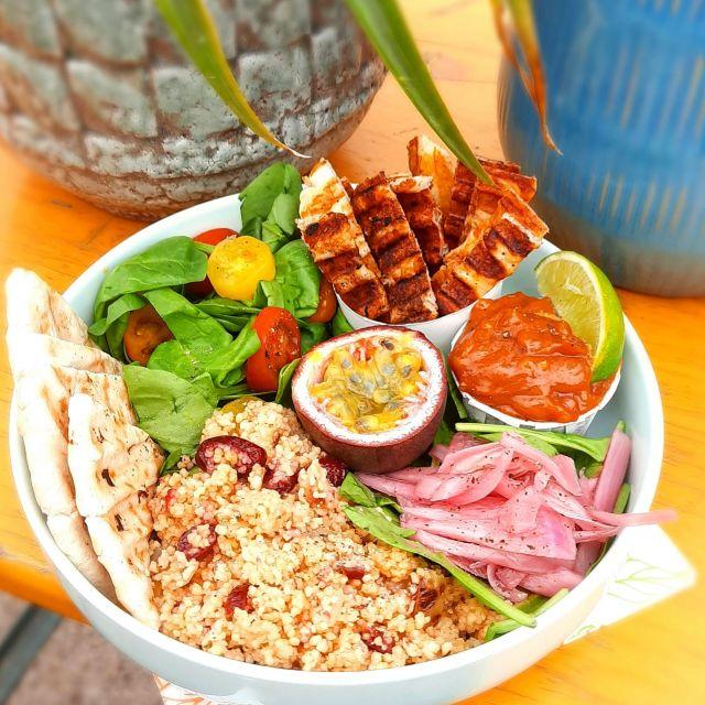 Icarus's Halloumi Bowl (Vegetarian)