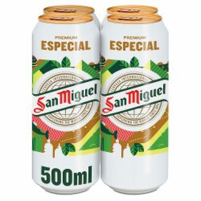 San Miguel  4 x 500ml Cans