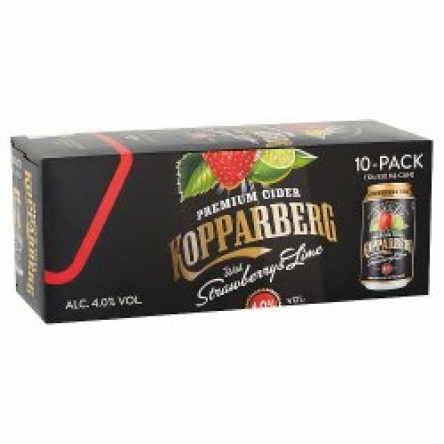 Kopparberg Strawberry & Lime MULTIPACK 10 x 330ml Cans