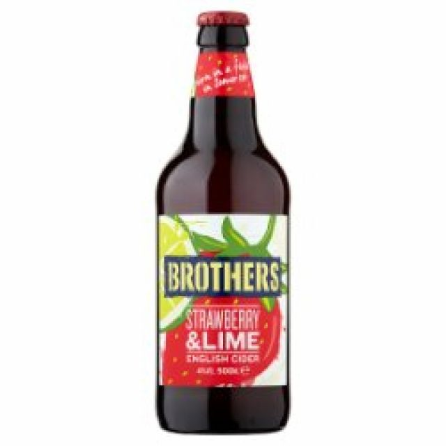 Brothers Strawberry & Lime 1 x 500ml Bottle