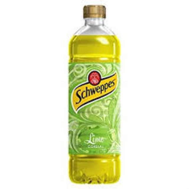 Schweppes Lime Cordial 1x1ltr