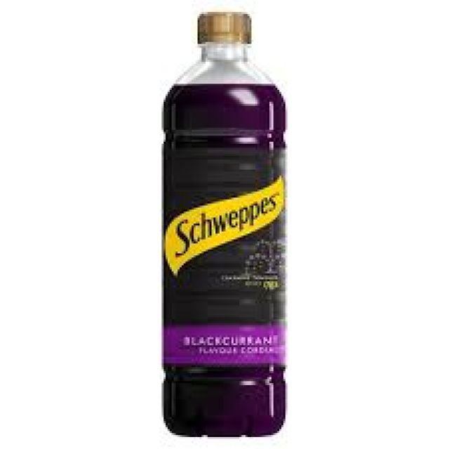 Schweppes Blackcurrant Cordial 1x1ltr