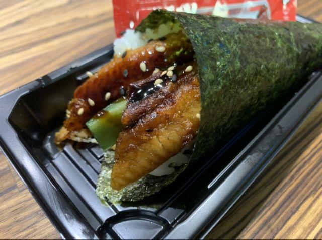Grilled Eel, Cucumber & Sesame Temaki