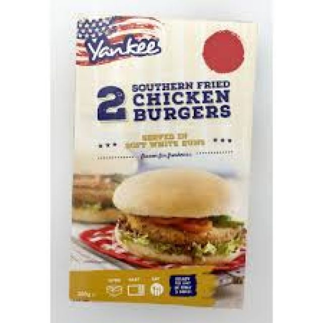 Yankee 2 Southern Fried Chicken Burgers In Bun 200g