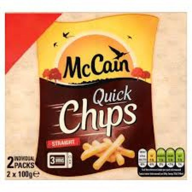 McCain Quick/Microwave Chips 2x100g