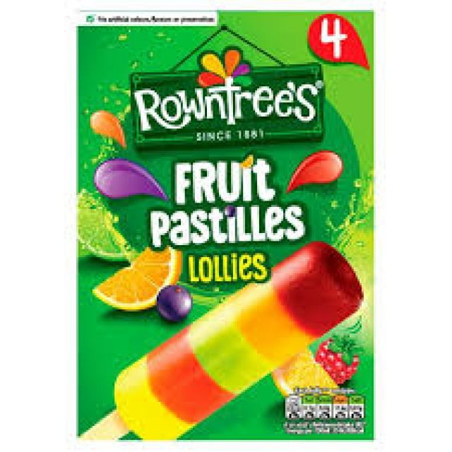 Rowntree's Fruit Pastilles Lollies 4 x 65ml Pack