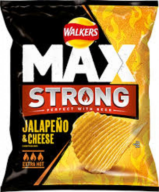 Walkers Max Strong Jalape 1x75g