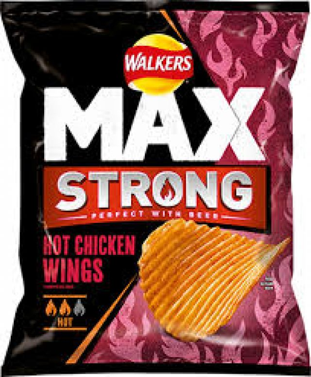 Walkers Max Strong Hot Chicken Wing 1x75g