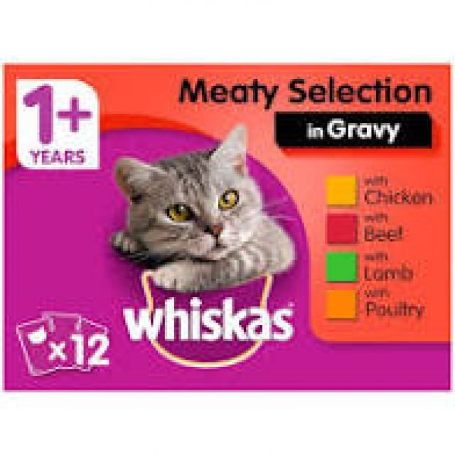 Whiskas Pouches Meat Selection In Gravy