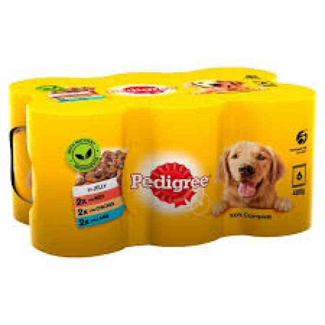 Pedigree In Jelly 6x400g Cans