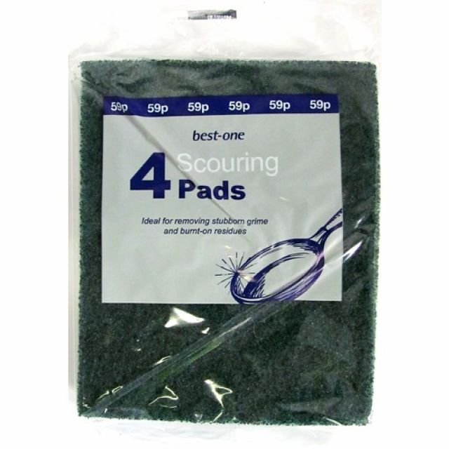 Best One 4 Sponge Scouring Pads