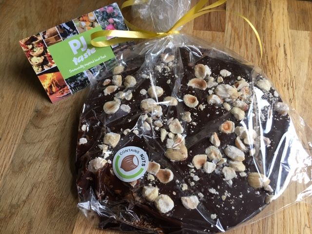 Full Of Love - Dark Chocolate Disc Topped With Hazelnuts And Sea Salt Crystals With Gift Tag
