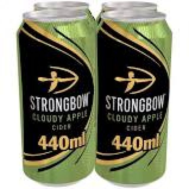 Strongbow Cloudy Apple 4 Cans x 440ml