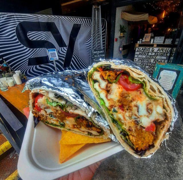 The BIGGIE Wrap (Halloumi & Falafel) Vegetarian