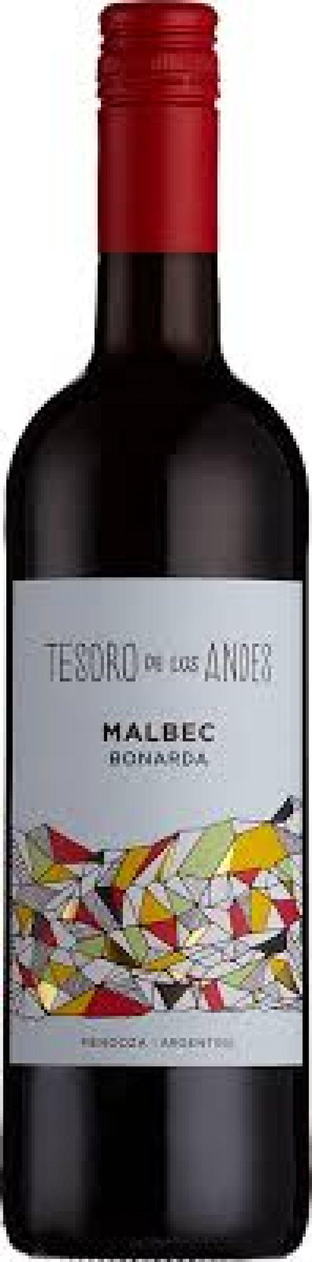Red Wine - Tesoro De Los Andes Malbec Bonarda 2018 75Cl