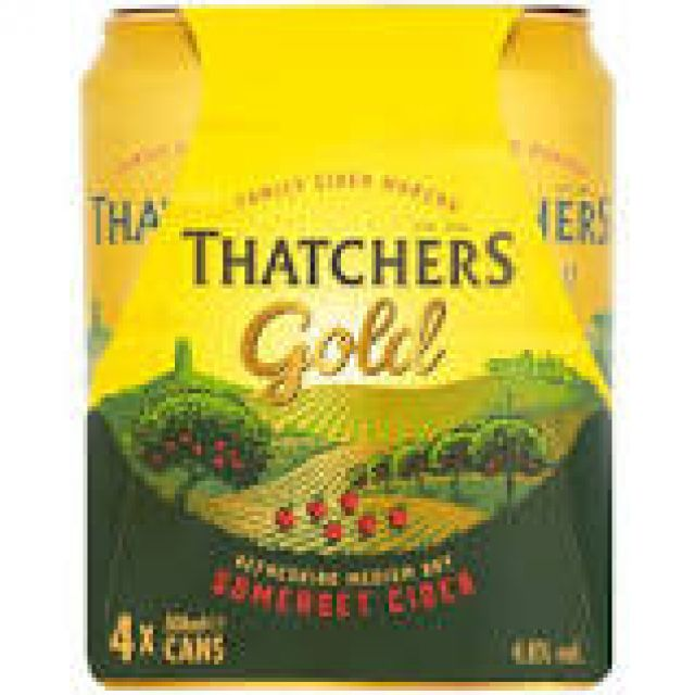 Thatchers Gold can 4x500ml