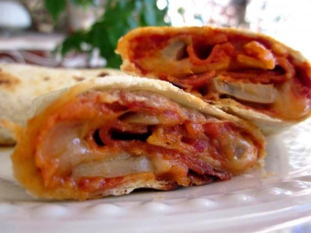 Cheesy Pepperoni Wrap