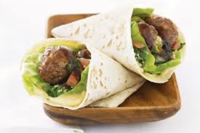 Vegan Meatball Marinara Wrap